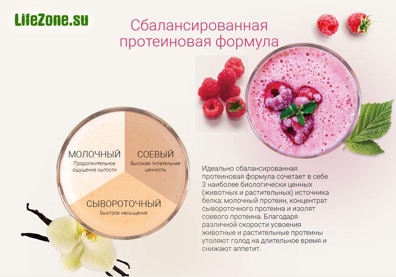Сбалансированная протеиновая формула натуральных коктейлей