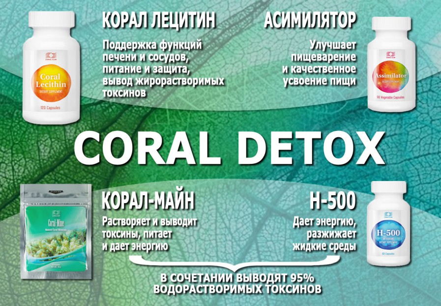 Набор детоксикации и очищения организма Корал Детокс