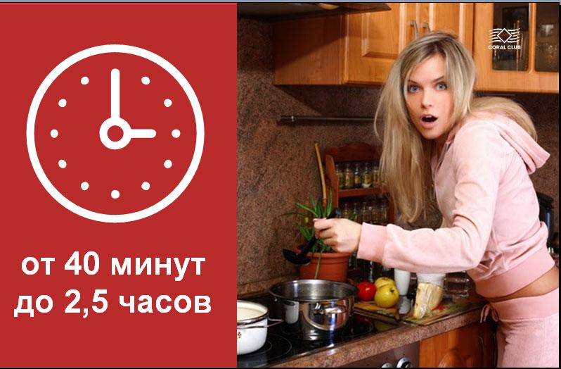процесс приготовления обычного супа занимает от 40 минут до 2,5 часов