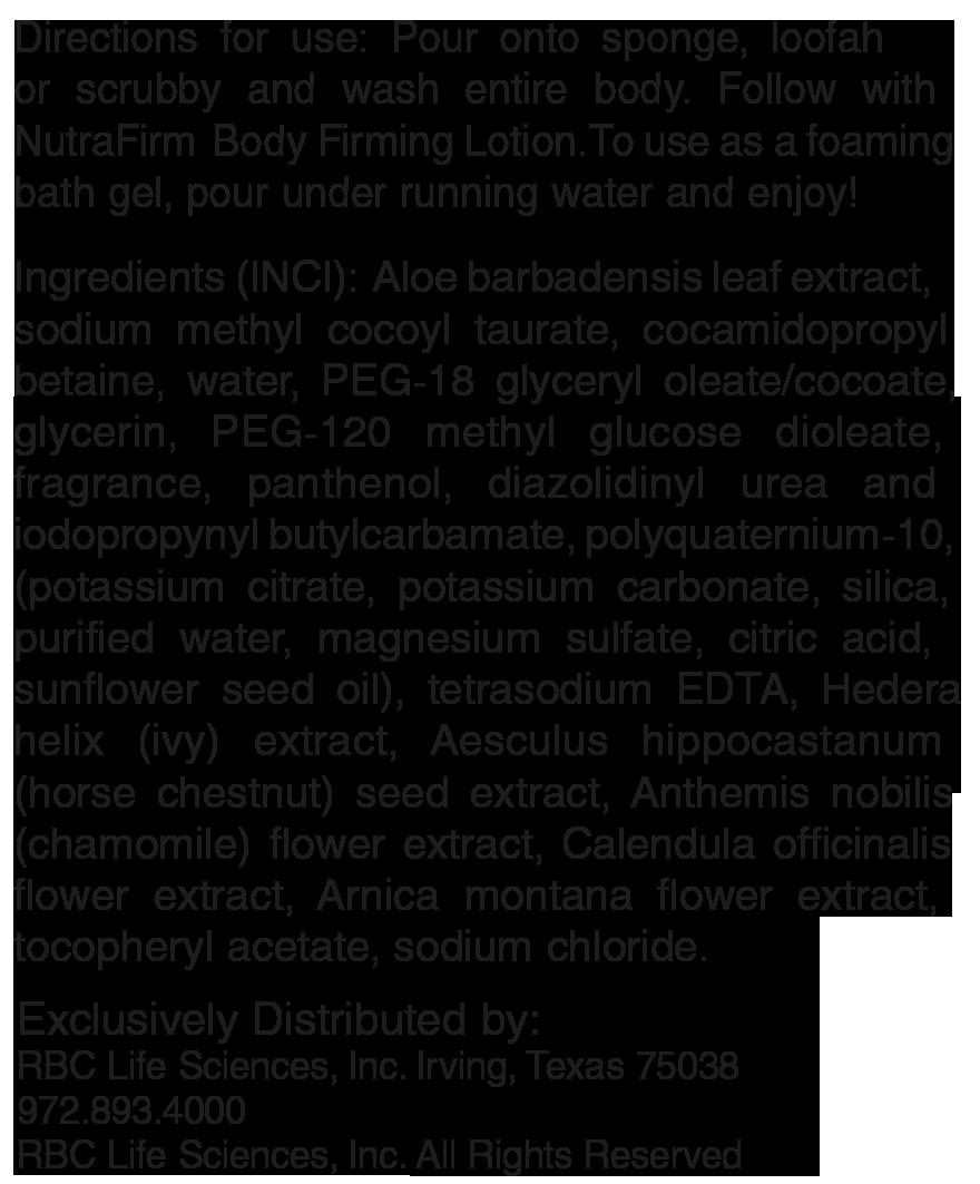 Состам Гель моющий и увлажняющий для тела «НутраФирм»