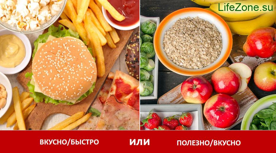 Что вы выбираете: ВКУСНО/БЫСТРО или ПОЛЕЗНО/ВКУСНО?